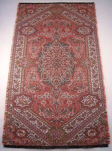 Persian-Rug-Style-Miniature-Paisley-Art-Silk-Woven-Termeh-Tapestry-Wall-Hanging