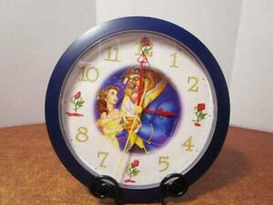 PRE-OWNED-Disney-Beauty-amp-the-Beast-Battery-Operated-10-034-Wall-Clock