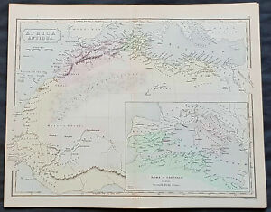 Map Of Europe 1840.1840 Sydney Hall Antique Map Of Africa Antiqua Roman Europe