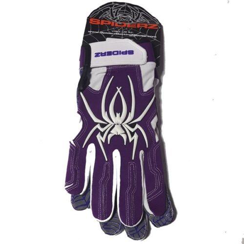 Spiderz HYBRID PURPLE//WHITE XL ADULT BATTING GLOVES,NEW