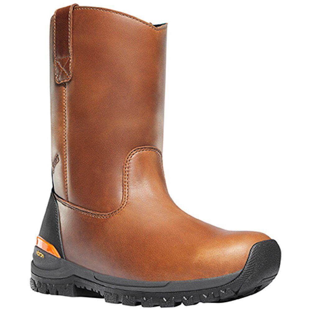Danner para hombre 16741 Stronghold Wellington 10  marrón botas de trabajo de seguridad clima caliente
