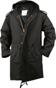 Image is loading Black-Military-Cold-Weather-M-51-Fishtail-Parka- 2c4ceac56fe