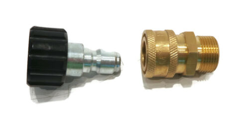 """PRESSURE WASHER QUICK CONNECT SET for MTM 24.0446 24.0447 3//8/"""" 22mm Male Female"""