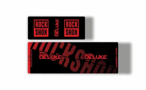 Rock Shox Super Deluxe RC3 Rear Shock MTB Decal Sticker Adhesive Red
