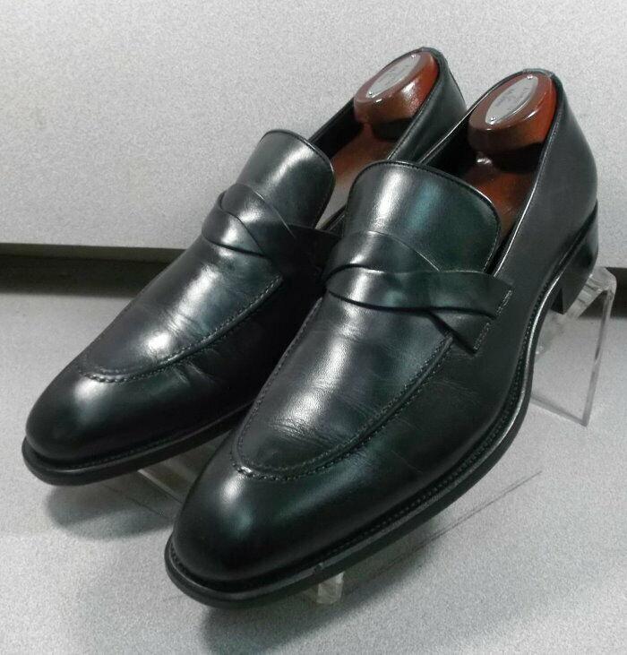 241917 WTi60 Para hombre Zapatos 10.5 M Negro Hecho en Italia Johnston Murphy prueba de marcha
