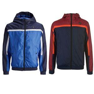 Jack /& Jones Mens Black Lightweight Hooded Quilted Sweat Multi Spring Jackets
