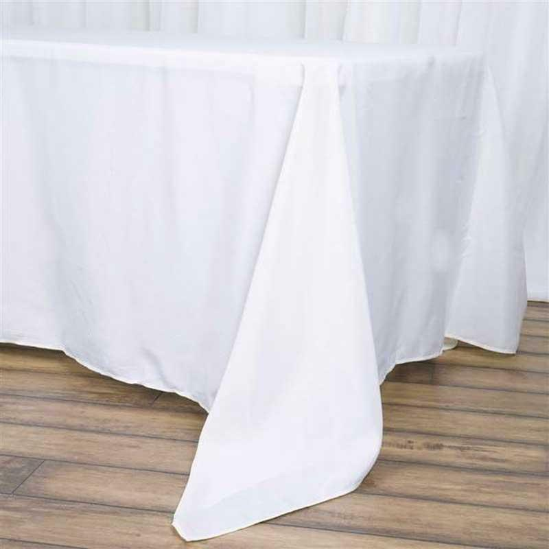 Lot de 10 Blanc 72x120  Polyester rectangle transparente Nappe Fête de mariage