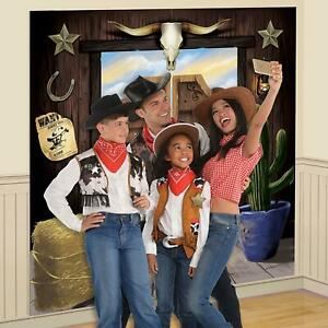 Details about Wild West Cowboy Party Selfie Wall Prop Backdrop Scene  Western Decoration