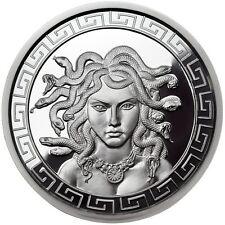 Limited 1 OZ PROOF MEDUSA GREEK MYTHOLOGY # RIM w/ COA Silver Snake