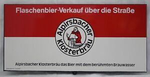 1925/11 - ALPIRSBACHER KLOSTERBRÄU Reklame Emaille 48 x 22 cm Querformat TOP