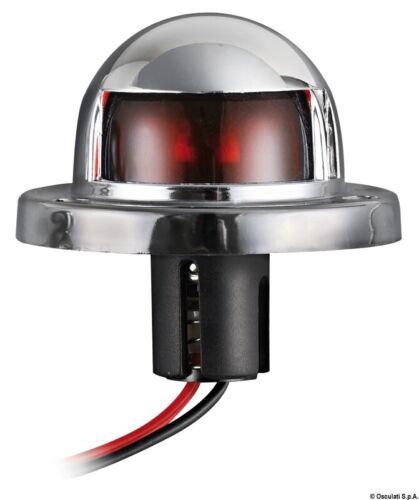 112,5° rot Navigationslicht//Navigationsleuchte aus verchromtem ABS