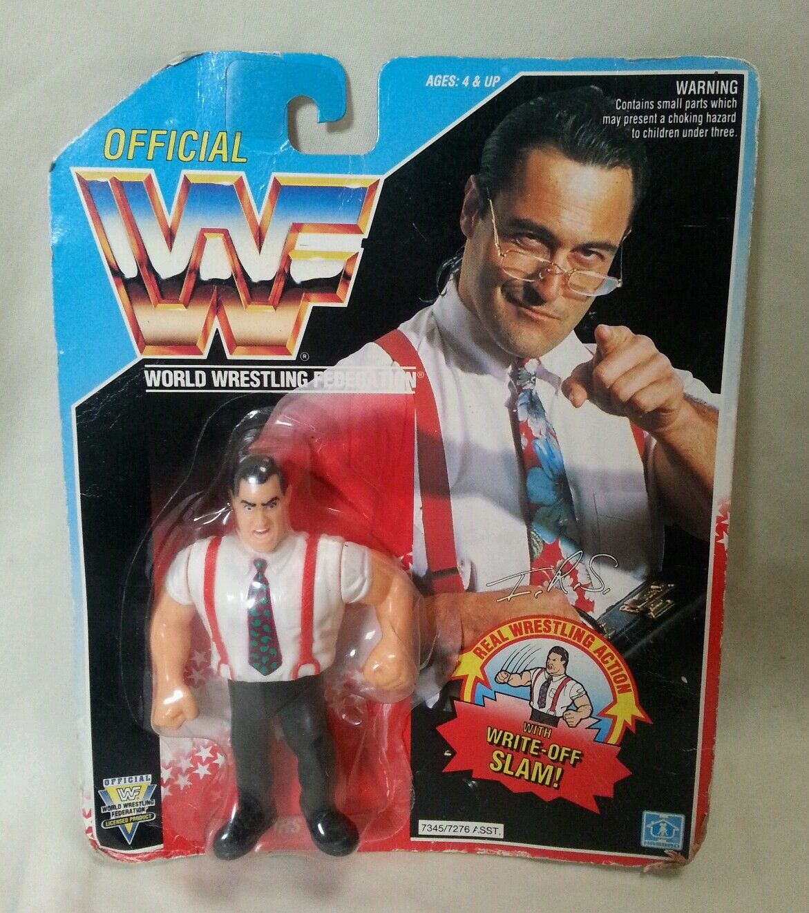 WWF-Luchador IRS Irwin R Schyster serie 5 figura 1992 WWE  2 Hasbro Sin Abrir
