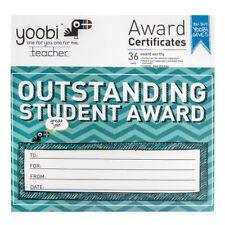 teachers 36 outstanding student award certificates aqua blue yoobi