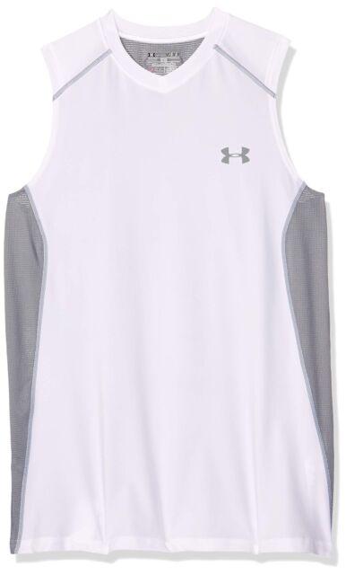 2546763324aec3 Under Armour Men s RAID Sleeveless T-shirt True Gray Heather ...