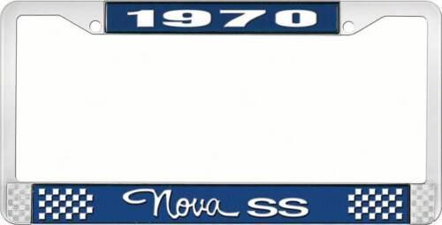 Style 3 1970 Nova SS License Plate Frame Blue