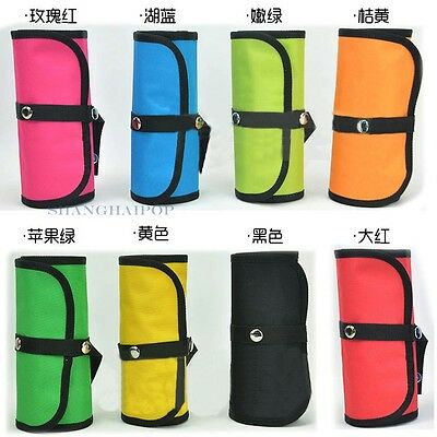 Canvas Colored Pencil Storage Folding Bag Pouch Pack Tool Wrap Roll Up Holder