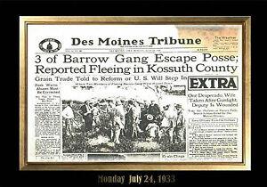 Image Is Loading MAGNET Vintage NEWSPAPER FRONT PAGE Photo Magnet Bonnie