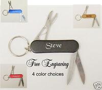 Personalized 3 Tool Pocket Knife/key Chain - Groomsman Gift Free Engraving