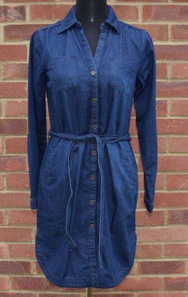 Brand New LAURA ASHLEY Belted Denim Dress Size 10, 16,18 RRP  ONLY .99