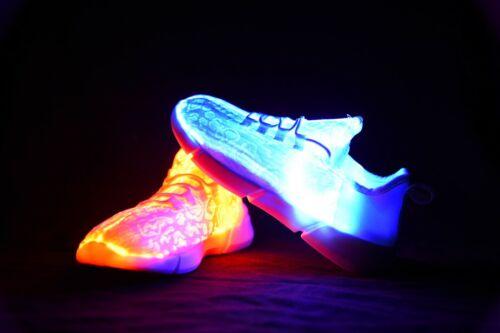 Milkywayz fibre optique Light Up Shoes 11 modes de couleurs Cool Confortable Jour Nuit