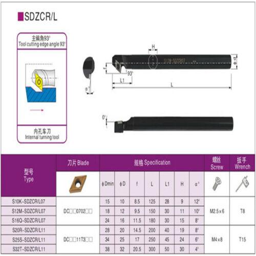 S16Q-SDZCL07 CNC Lathe Internal Turning Tool Holder Boring Bar For DCMT07 Insert