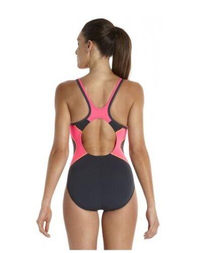 Nouveau Haut Femmes SPEEDO V-cou musckeback Maillot De Bain Swim Swimming Costume Black