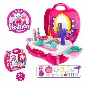 Image is loading Girls-Beauty-Set-Toy-Kids-4-5-6- Girls Beauty Set Toy Kids 4 5 6 7 8 9 Years Age Cool Gift Make Up