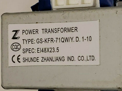 SHUNDE ZHANLIANG Power Transformer GS-KFR-71QW//Y.D.1-10