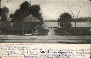 Oconomowoc-WI-City-Park-c1905-Postcard