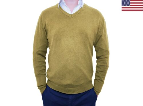 Men's Slim Fit Pullover Sweater Tops Jumper Knitted Long Sleeve V-Neck Sweaters