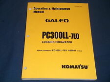 KOMATSU PC300LL-7EO LOGGING EXCAVATOR OPERATION & MAINTENANCE BOOK MANUAL