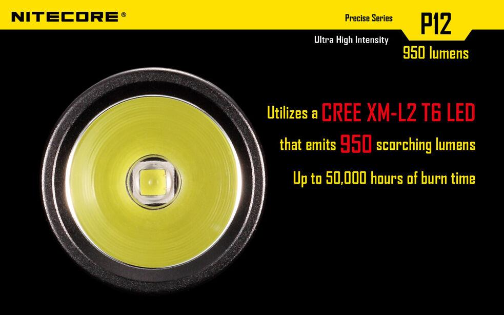 Nitecore P12w w/8x LED Flashlight (Neutral Weiß) w/8x P12w FREE Premium CR123A Batteries eaca49