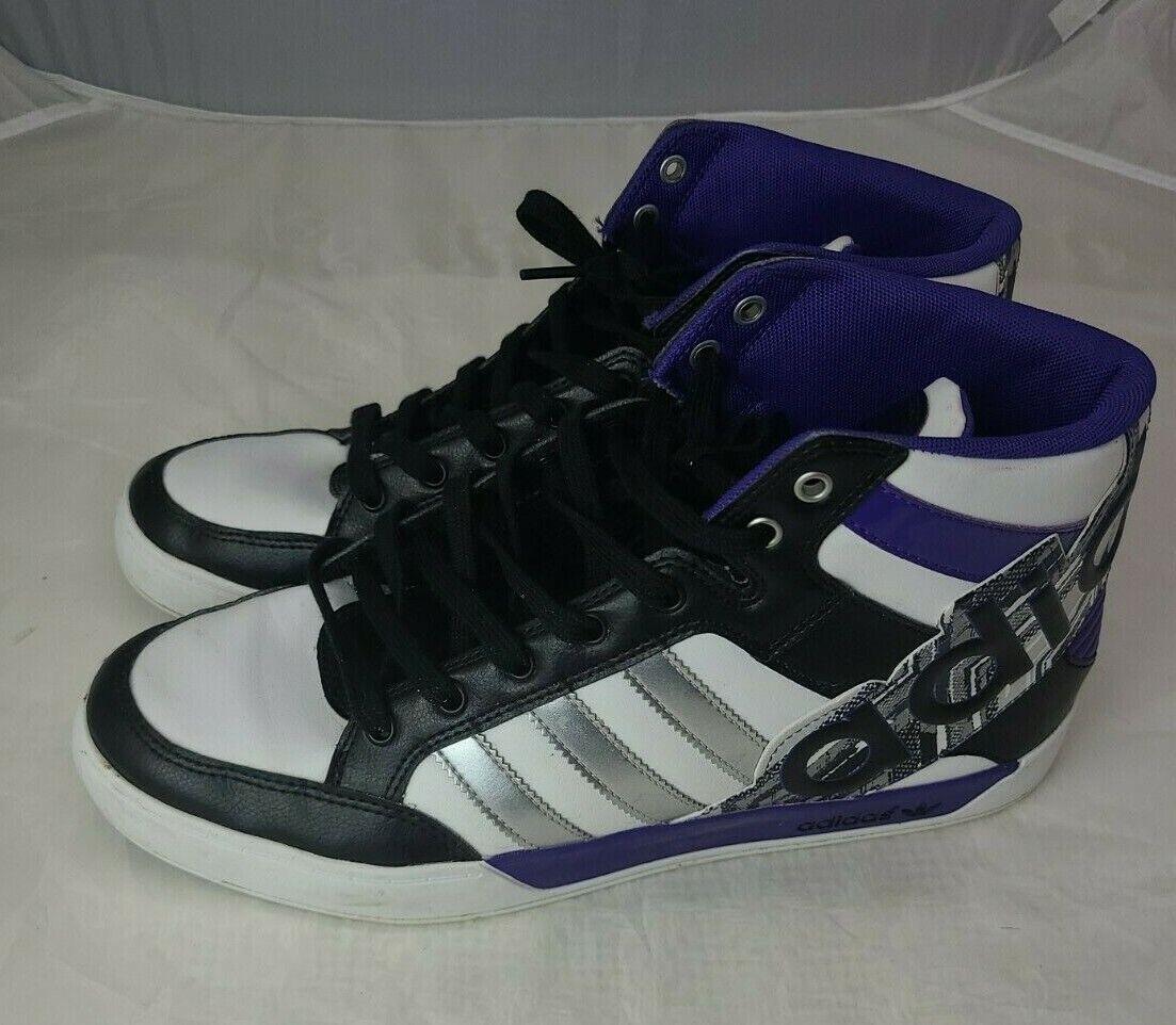 Crítico mi ratón o rata  adidas Mens Hard Court Hi Big Logo Black/red /gold Athletic Shoes Size 9.5  for sale online | eBay