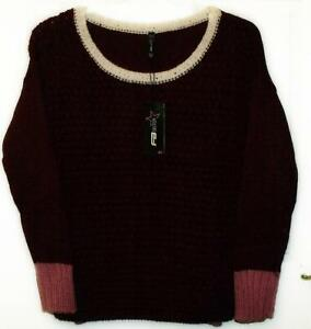 NEW-FB-SISTER-BURGUNDY-SWEATER-JUMPER-SIZE-M-14-16-564