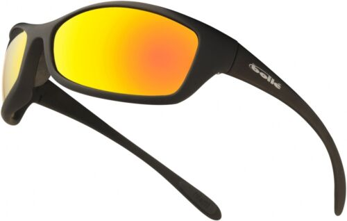 1 of 1 - Bolle spider flash / flame - mirror lens safety glasses with free storage pouch