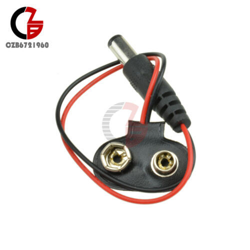 5PCS 9V DC T type Battery Power Cable Barrel Jack Connector For Arduino DIY
