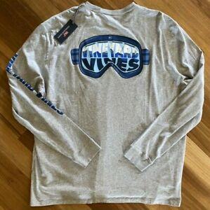 Vineyard-Vines-Mens-Ski-Goggles-Long-Sleeve-Shirt-Size-2XB-Grey-Logo-Pocket-New