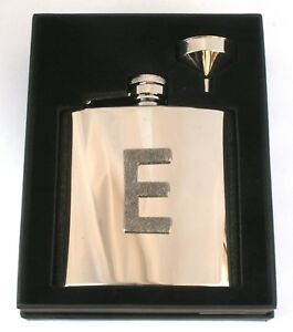 6 Oz Stainless Steel Hip Flask Gift Boxed FREE ENGRAVING With Your Initial qsvegLXz-08054543-872580739