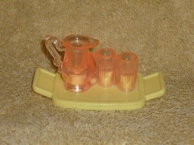 Fisher Price Loving Family Dollhouse Swimming Pool Food Drinks Tray Jug Kitchen