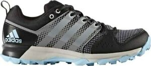 Adidas-Women-039-s-Galaxy-Trail-Black-Carolina-Blue-Trail-Running-size-5