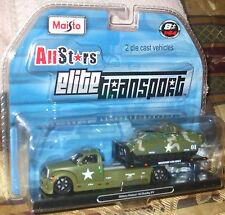 2009 Maisto All Stars Elite Transport Military Flatbed & M2 Bradley IFV 1-64 8+