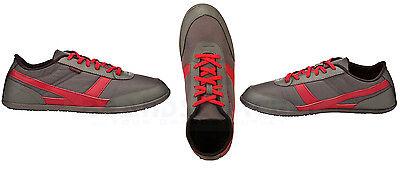 NEUFEEL 8277521 Kinder Sneakers Turnschuhe Sportschuhe EU35 UK2.5, Kaki-Rot