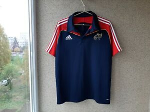 Details about Munster Rugby Shirts 2009/2010 Jersey L Adidas Ireland Rugby Training Camiseta