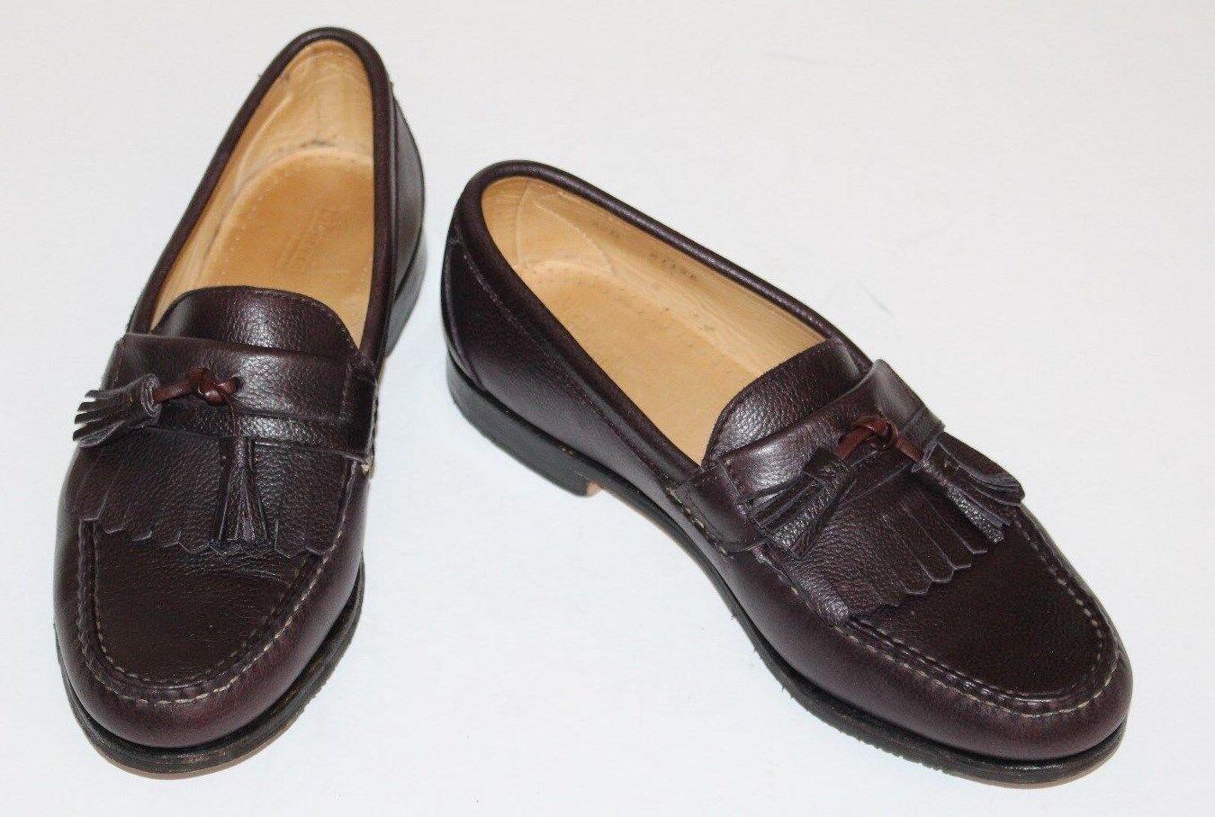 Allen Edmonds Danforth 8.5 D Cordovan Brown KiltieTassel Leather Loafer  US