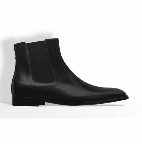 MEN HANDMADE GENUINE LEATHER Schuhe Schuhe Schuhe BLACK ANKLE HIGH CHELSEA CASUAL Stiefel 24d7fe