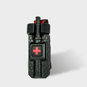 Eleven 10 RIGID TQ Case for CAT Tourniquet Gen 7 Solid RED Cross BSK WV Tek-Lok