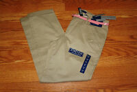 Womens Bandolinoblu Michelle Khaki Anklette Natural Rise Belted Pants Size 4
