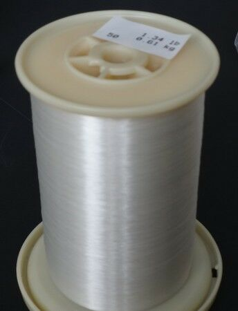 0.008 mm Clear Nylon Monofilament () on Large Spool  1.22 LBs.
