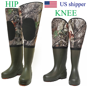 Neoprene Fishing Hunting Hip Waders for Men with Boots for cold water