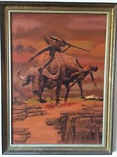 Original Illustration for Softcover Book Oil Painting on Board by Robert Foster